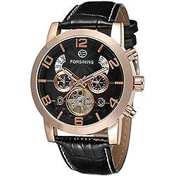 Forsining Men's Automatic Tourbillon Genuine Leather Brand Wrist Watch FSG165M3G2
