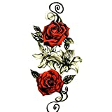 Temporäre Rose blumen Tattoo-Aufkleber-haut-wasserfest Body Art Waterproof haut Tattoos Körper Aufkleber Papier Fake Tattoo Wasserdicht