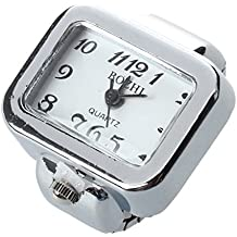 Ring watch - SODIAL(R) Quartz Watch Ring watch Digit Dial Arabic Rectangle White Unisex Jewelry
