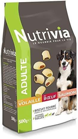 Nutrivia : Friandises Nutrivia Biscuits Fourrés Pour Chien Adulte : 500gr