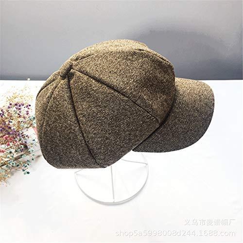 DESESHENME Mode Unisex Männer Frauen Wolle Warme Mütze Beanie Hut Kappe Französisch Stil Geschenk, Khaki