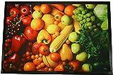 Montse Interiors, S.L. Alfombra Cocina Microfibra Antideslizante Vegetables