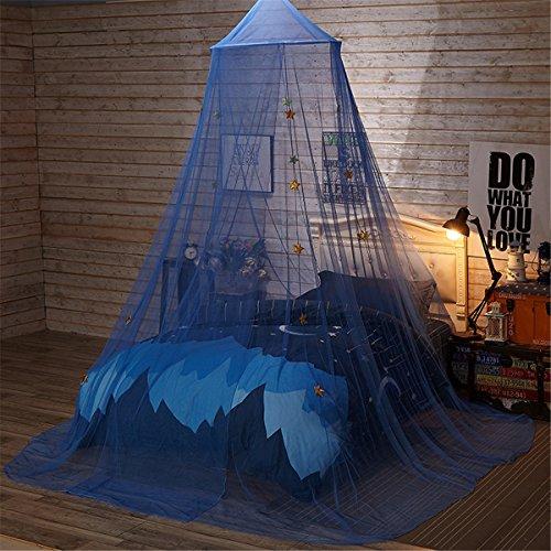 Jeteven Betthimmel Baldachin Mückenschutz Insektenschutz netz für Doppelbetten Baby Kid Kinder daheim oder für die Reise,Hohe 260cm (Blaue Sterne)