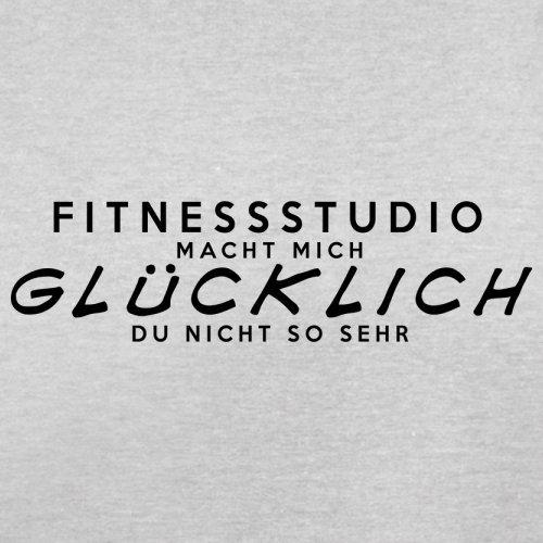 Fitnessstudio macht mich glücklich - Herren T-Shirt - 13 Farben Hellgrau