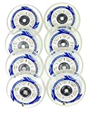 Kryptonic 8er Rollen Adrenaline 78mm für K2 Skates nur Rollen oder Inlinerrollen fertig montiert - Einbauen losfahren incl. Rollen + Kugellager+Spacer 6mm (8er Set Rollen+Lager+Spacer)