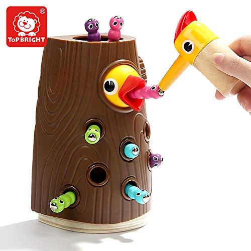 sch Magnetisch Spielzeug - Kinder Motorikspielzeug ab 2 Jahre - Wurm Fangen Spiel ()