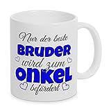TassenKing(TM) - Nur der beste Bruder wird zum Onkel befördert - Kaffeetasse als Geschenkidee. Bester Papa wird zum Opa. Geschenk Papa Tasse. Bester Papa Kaffeetasse