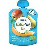 NESTLÉ NATURNES BIO Bolsita Pera, Manzana y Plátano 16 x 90 g