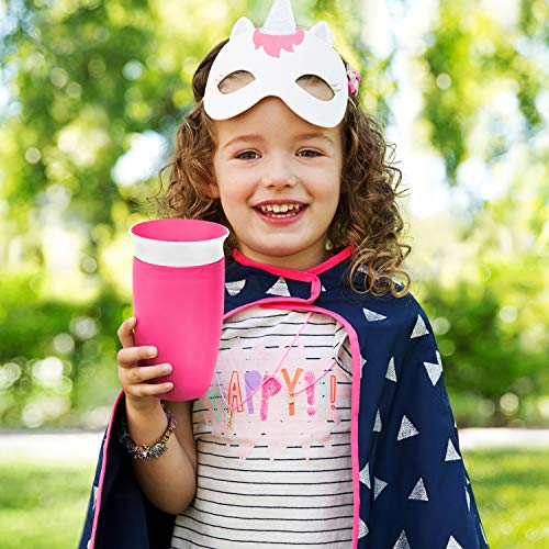Munchkin Miracle 360 Sippy Cup, Orange/Pink, 10 Ounce, 2 Count - 4