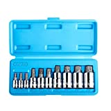 Capri Tools XZN Triple Square Spline Wrench Bit Socket Sets, S2 Bit, 10-Piece