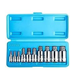 Capri Tools Xzn Dreifach Bit Stecknuss Sets Vierkantdorn Schraubenschlüssel, S2 Bit, 10 Stücke