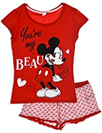 012707707 Disney Minnie Women Ladies Teenagers ER3597 Short PJs Shortama Pyjama