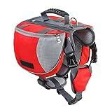 Yiiquanan Hund Rucksack Verstellbar Pack Mittelgroße & Large Hunderucksack für Wandern Camping Reise (Rot#1, Asia M)