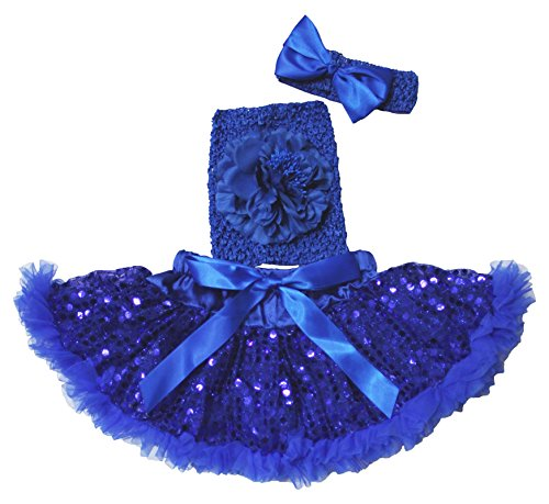 Plain Dress fiore bambino blu top a tubo gonna Outfit Set 3-12M Blue Taglia unica