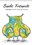 Bunte Freunde (Wandkalender 2019 DIN A4 hoch): Familinenplaner mit 5 Spalten (Familienplaner, 14 Seiten ) (CALVENDO Spass)