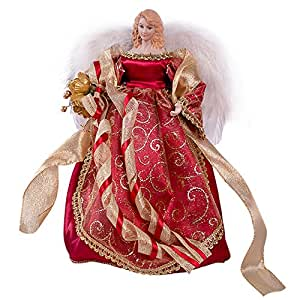 The christmas workshop 82000 puntale per albero di natale a forma di angelo 30 cm colore - Ange sapin noel ...