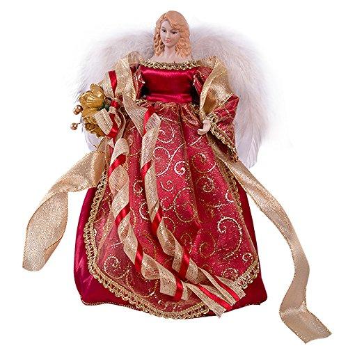 30,48 cm rotem Kleid & mit Federn, Tree Top Engel Geburtstage oder Nymphe Weihnachtsgeschenk