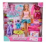 Simba 105732468 - Steffi Love Puppe mit 5 glamourösen Kleidern