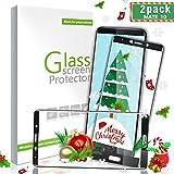 Aonsen Protector de Pantalla Huawei Mate 10,[2 Pack] 3D Full Coverage Templado Protector de Pantalla, 9H Dureza Anti-rasguños Vidrio Templado Protector para Huawei Mate 10 - Negro
