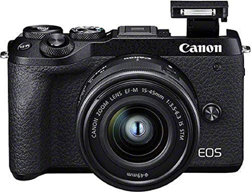 Canon EOS M6 Mark II Kit + Objectif EF-M 15-45 is STM + viseur EVF
