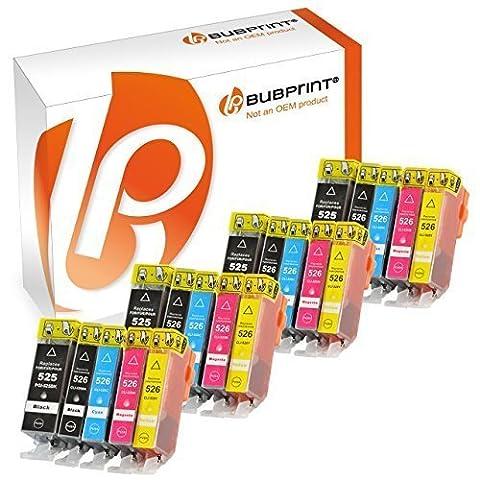 Bubprint 20 Druckerpatronen mit CHIP kompatibel für Canon PGI-525 CLI-526 Canon Pixma IP4850 , MG5120 , MG5150 , MG5250 MG6120 , MG6150 , MG8120 , MG8150