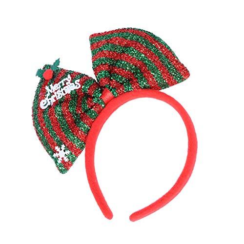 nband, Bow Bowknot Stirnband für Kostüm Party Requisiten (rot und grün) ()
