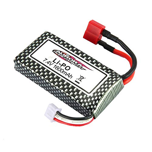 8Eninite Batteria al Litio da 7.4V 1600Mah Accessori Batteria Modello Giocattolo per Auto XLH 9125 Rc Argento