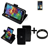 K-S-Trade® Case Schutz Hülle Für -Switel Champ S5003D- + Bumper Handyhülle Flipcase Smartphone Cover Handy Schutz Tasche Walletcase Schwarz (1x)