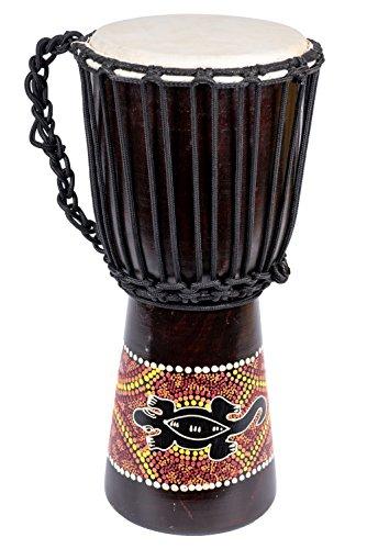 20cm Profi Gecko Bemalt Djembe Trommel Bongo Drum Handtrommel Buschtrommel Percussion Kinder Fair Trade