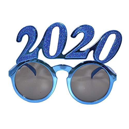 Amosfun Party Brillenfassungen 2020 Lustige Brillen Frohes Neues Jahr Gastgeschenke Kostüm Foto Requisiten Party Dekoration Lieferungen