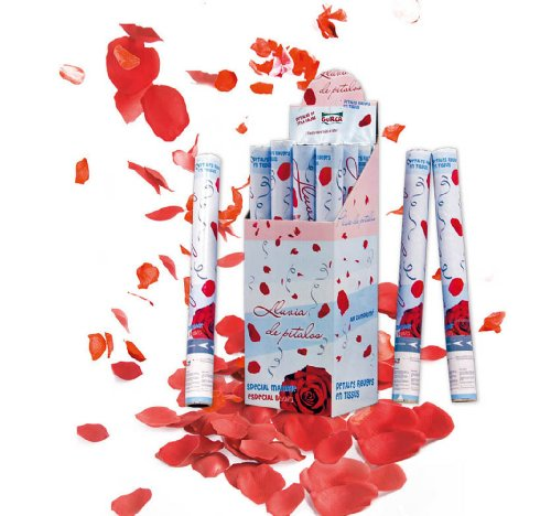 25 - rote Rosenblätter-Pistole, 50 cm komprimierte Luft ()