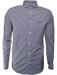 Armani Jeans Men's Navy Blue Long Sleeve Shirt
