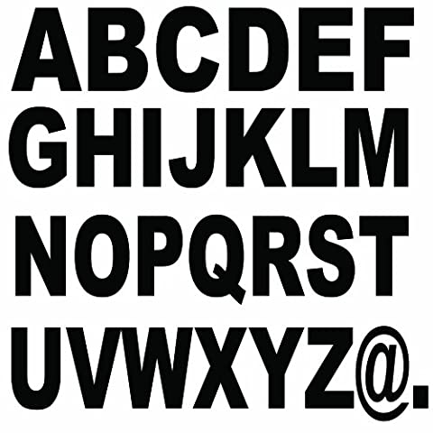 Large Letters 5 cm / Sticker 112 Psc. free selection of letters, colour & fonts