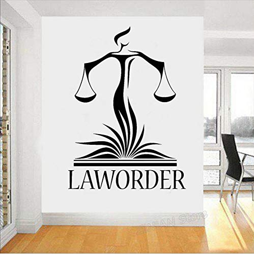 Rechtsanwaltsbüro Wanddekoration Aufkleber Anwalt Gerechtigkeit Waage Gericht Aufkleber Modern Home Interior Dekoration Tapete 56x77cm