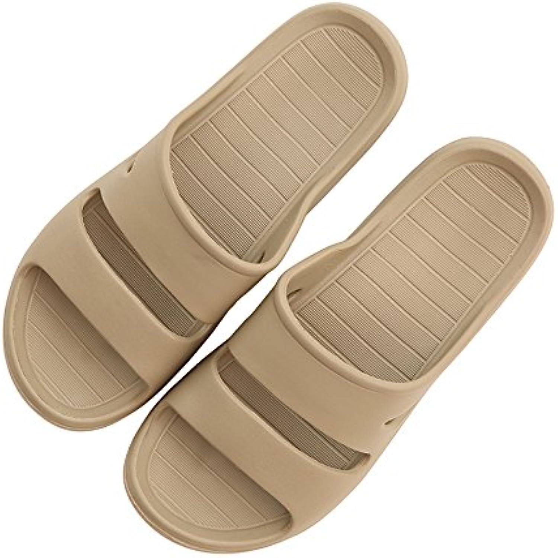 fankou Dormitorio de Zapatillas de plástico Antideslizante Baño Fresco Zapatillas Calzado de Playa Brown,40-41...