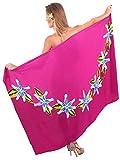 La Leela rayonne couvrir peint à la main florale jupe de plage nager pareo 78×43 pouces