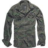 Brandit Hombres SlimFit Camisa Woodland tamaño M
