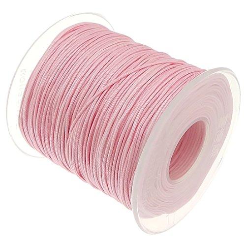 My-Bead 90m Nylonband Kordel 1mm Rosa Wasserfest Nylonschnur Top Qualität Schmuckherstellung basteln DIY
