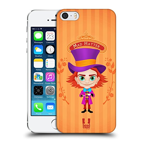 Head Case Designs Chapelier Fou Alice Au Pays Des Merveilles Étui Coque D'Arrière Rigide Pour Apple iPhone 5 / 5s / SE Chapelier Fou