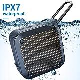 Bluetooth Lautsprecher Dusche IPX7 Wasserdicht - Wireless Tragbar Freien Klein Bluetooth Lautsprecher Staubdicht Anti-Fall AUX-in TF Card 8Hrs Spielen Geeignet Strand Kajak Schwimmen Party Reisen