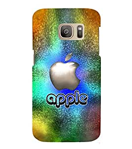 Fuson Premium Back Case Cover Designed apple With Purple Background Degined For Samsung Galaxy S7::Samsung Galaxy S7