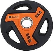 Sveltus 3811Disco per Barra Unisex Adulto, Arancione/Nero, 5kg