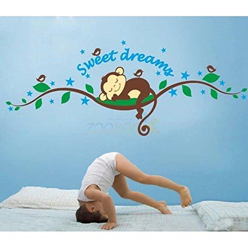 Preisvergleich Produktbild HuaYang Nouveau singe de sweet dreams sticker mural décoration pour les enfants