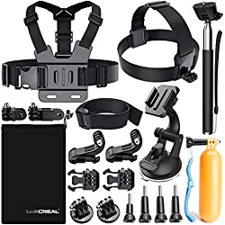 Accessori per Gopro, Kit Accessori Action Cam per Go Pro Hero 2018 Hero 6 5 4 3 2 1 Hero Session 5 Black AKASO EK7000 Apeman Dpower Xiaomi di LUSCREAL.