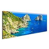 bilderfelix® Bild auf Leinwand Faraglioni-Klippenpanorama