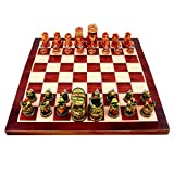 """Aone India 18"""" x 18"""" Collectible Wooden Made Chess Board Game Set + All Wooden Pieces"""