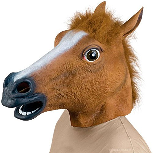 Hrph Neuheit Creepy Pferd Halloween Kopf Latex-Gummi-Kostüm Theater Prop-Party-Maske Mit Rabatte Silikon-Maske