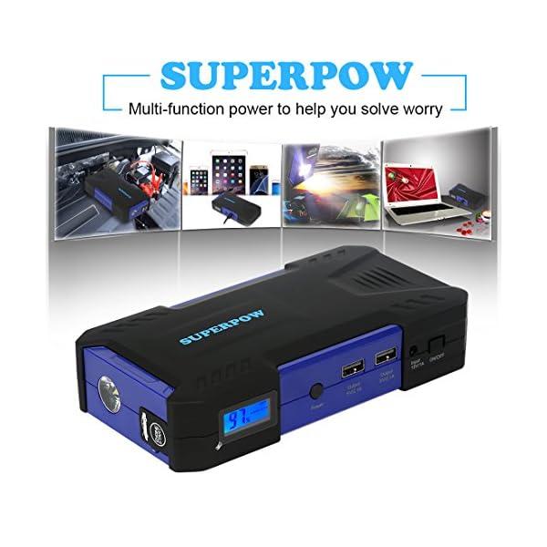 Android 8.1 TV Box, Superpow Smart TV Box Quad Core 2GB RAM+16GB ROM, 4K*2K UHD H.265, HDMI, USB*2, WiFi Media Player, Android Set-Top Box con Voice Remote Control (4+32gb)