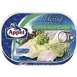Appel Heringsfilets, zarte Fisch-Filets in Dill-Kräuter-Creme, MSC zertifiziert, 10er Pack (10 x 200 g)