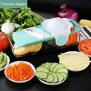 Baban 3 in 1 Slicer Spiralizzatore Verdura,affetta Verdura Affettatrice/affettatrice grattugia multifunzione vegetale e frutta affettaverdure per cucina